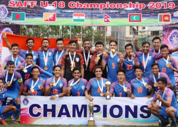 History created as India U-18 team wins it's maiden SAFF title