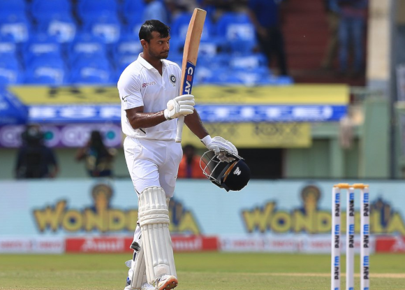 What did Mayank say after hitting his maiden Test ton?