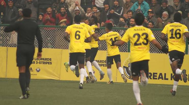 I-League: Bazie scores the winner, Real Kashmir jumps on the fifth position